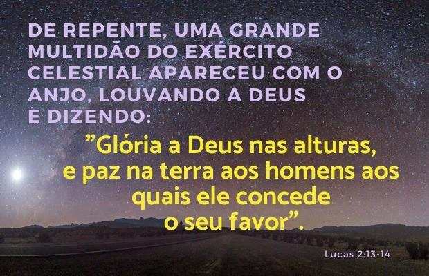 Lucas 2:13-14 - Glória a Deus nas alturas!
