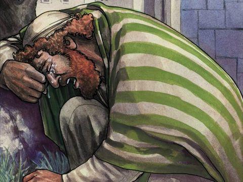 Pedro chorou amargamente depois de ter negado Jesus por 3 vezes - Mateus 26:75