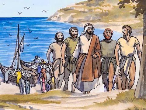 Jesus chama pescadores para serem pescadores de homens