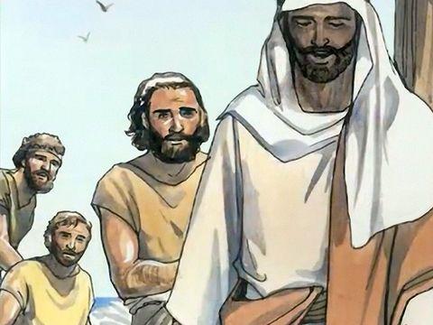 Jesus e 3 discipulos