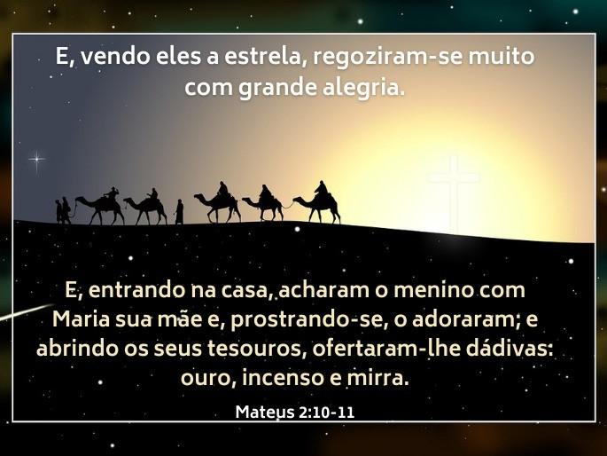 Imagem sombra de uma caravana com camelos à luz de uma estrela - Versículo Mateus 2:9-10