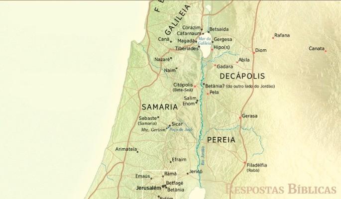 Mapa região Galiléia