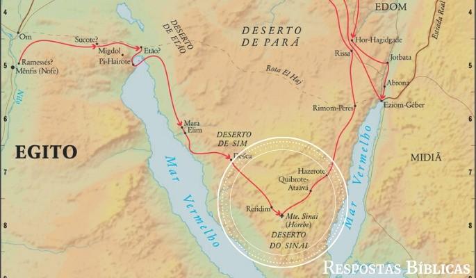 Mapa região Sinai