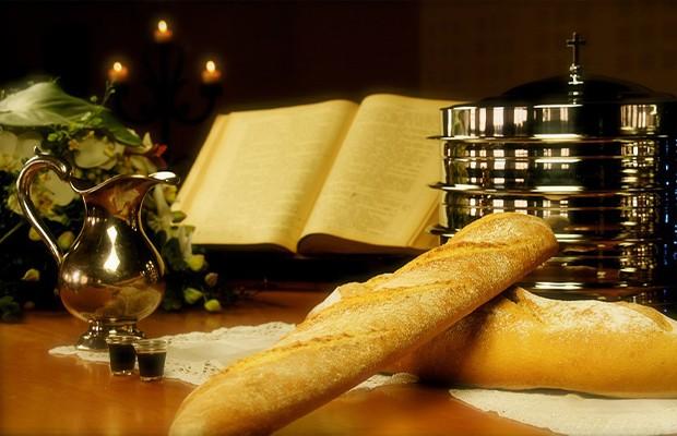 O Pão e o Vinho são os elementos da Ceia do Senhor.