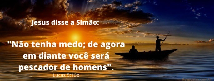 luz do sol e barco no mar - Versículo Lucas 5:10b ' Não temas, de agora em diante serás pescador de homens'