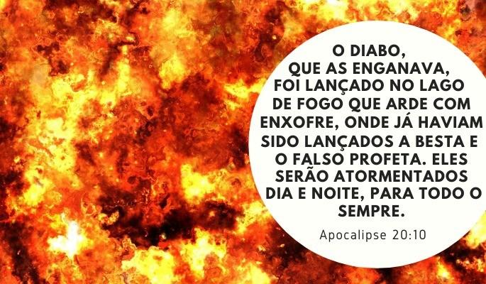apocalipse 20:10 destino de satanás