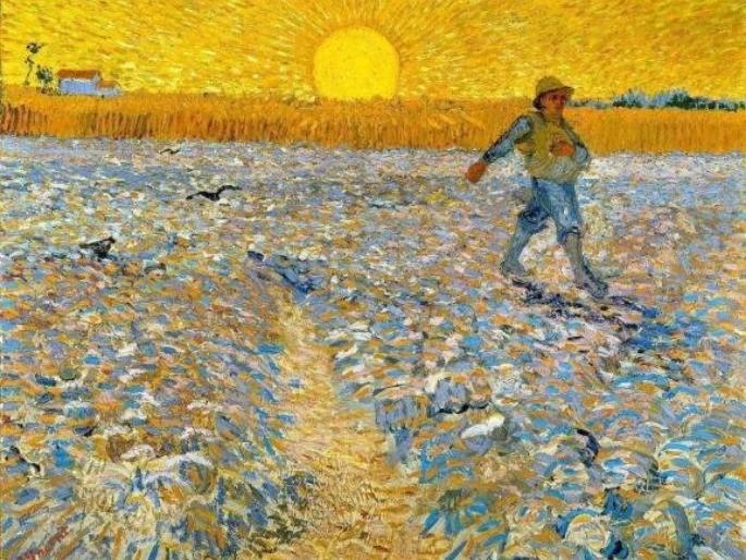 O Semeador e o Sol brilhante - Vincent Van Gogh