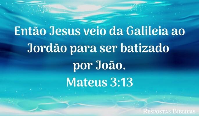 Versículo batismo Jesus